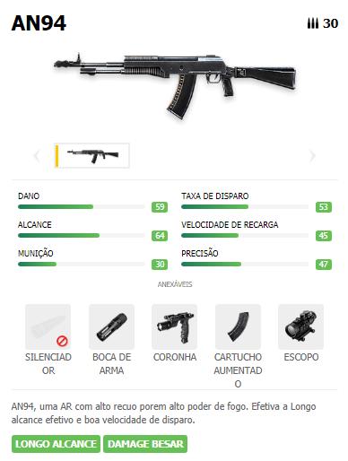 AN94 Arma AR Free Fire