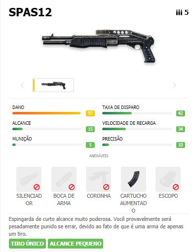 SPAS12 arma SG Free Fire