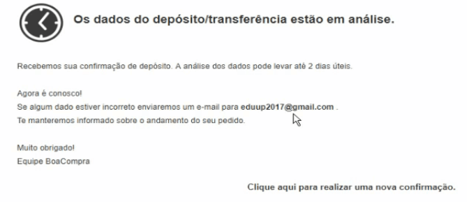 Analise Transferencia Bancaria Pedido Diamantes