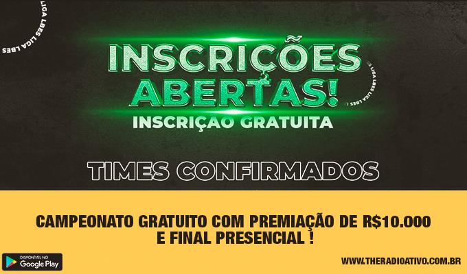 Campeonato Gratuito com Premiação de R.000 e Final Presencial !