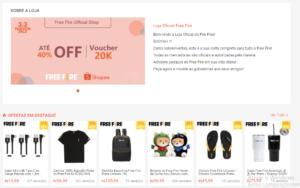 Loja Oficial do Free Fire na Shopee 1