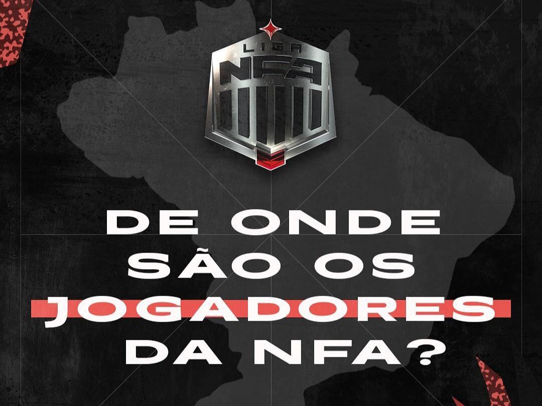 Vocês Sabem De Onde Vieram Os Jogadores Da NFA ? Confira a Região De Cada Jogador Que Participa Da Liga NFA 1