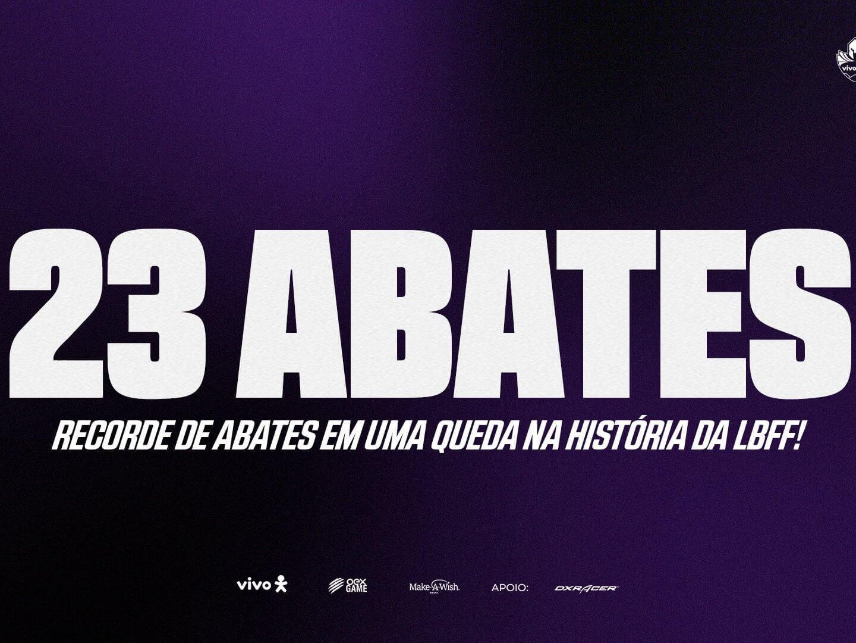 VIVO KEYD QUEBRA RECORDE DE ABATES NA LBFF