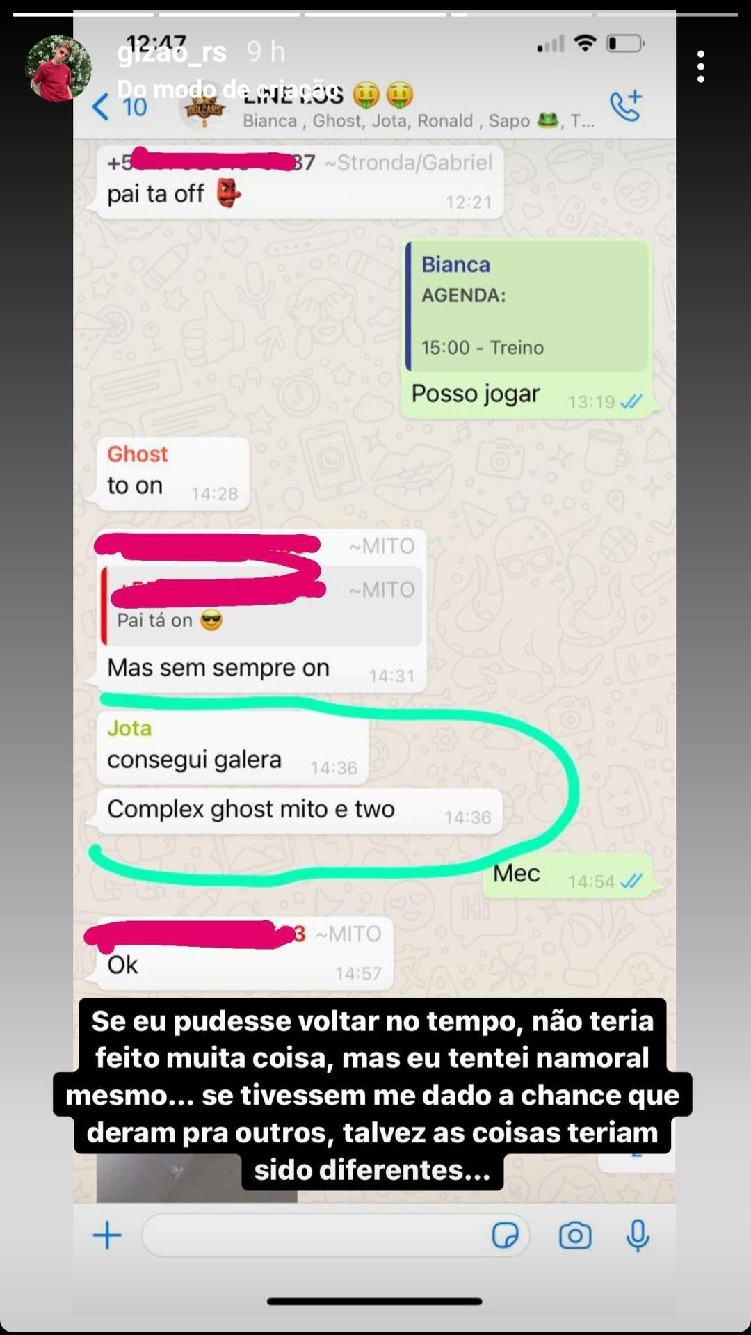 Gizão Voltou a Falar Sobre Sua Saída da Los Grandes 3